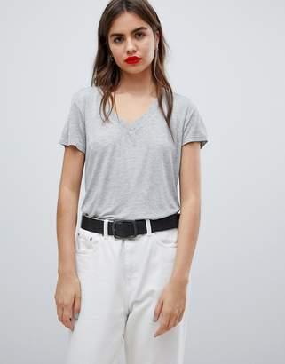 Tommy Jeans drapey v-neck t-shirt