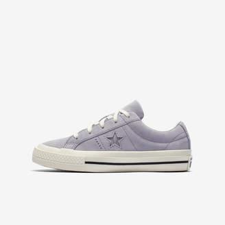 Nike Converse One Star Precious Metal Suede Low TopGirls Shoe