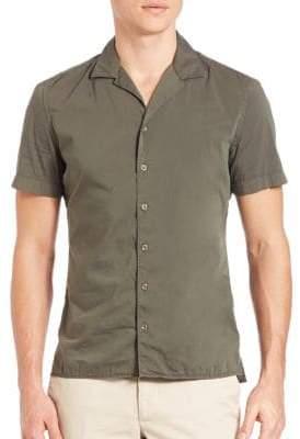 J. Lindeberg Cotton-Blend Short Sleeve Shirt