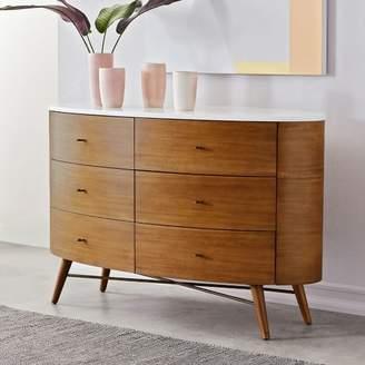 west elm Penelope 6-Drawer Dresser - Acorn w/ Marble Top