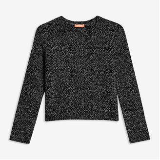 Joe Fresh Kid Girls' Basket Stitch Popover, Black (Size XL)