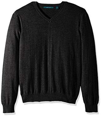 Perry Ellis Classic Solid V-Neck Sweater-Men's