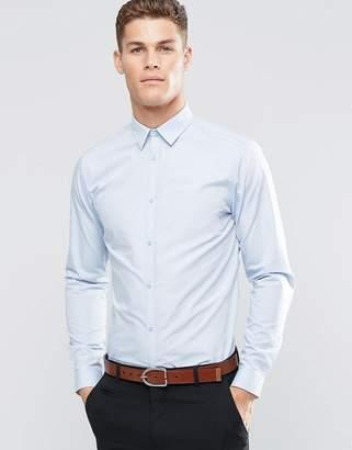 New Look Poplin Shirt In Regular Fit In Light Blue