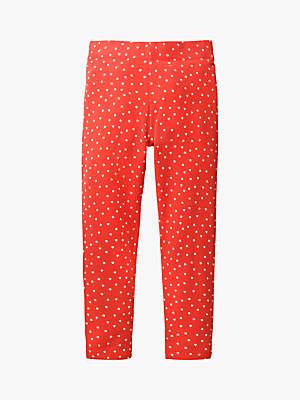 Boden Mini Girls' Polka Dot Leggings, Red