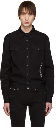 Givenchy Black Denim Vertical Logo Shirt