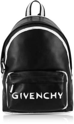 Givenchy Black Leather Graffiti Logo Print Backpack