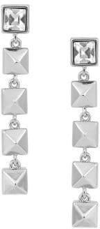 Karl Lagerfeld Paris Essentials Crystal Pyramid Linear Drop Earrings