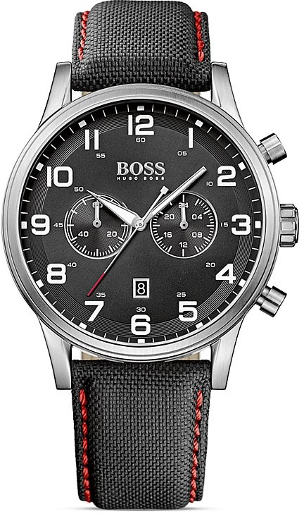 HUGO BOSS Aviator Stainless Steel Watch, 44mm