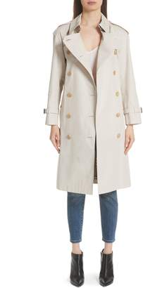 Burberry Treecastle Side Stripe Trench Coat
