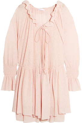 See by Chloé - Gauze Mini Dress - Pastel pink $450 thestylecure.com