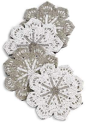 Gourmet Dining Sudha Pennathur Beaded Snowflake Coasters/Set of 4