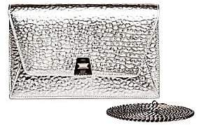 Akris Women's Large Anouk Envelope Metallic Leather Crossbody Bag