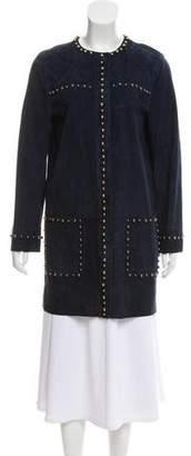 Lanvin Beaded Suede Coat