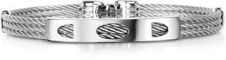 Forzieri DiFulco Line Stainless Steel Three-Strand Bracelet