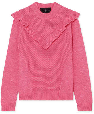 Needle & Thread Ruffled Knitted Sweater - Pink