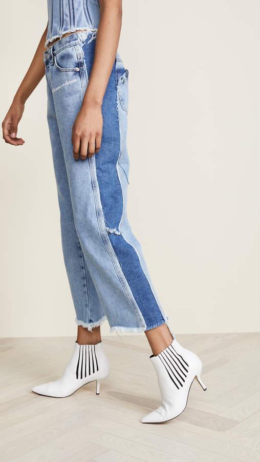Denim Stonewash Cropped Jeans