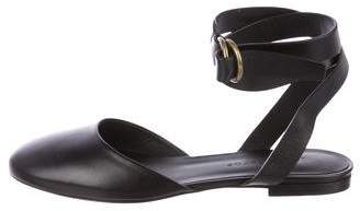 Jenni Kayne Leather Ankle Strap Flats