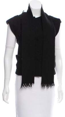 Bottega Veneta Belted Virgin Wool Vest