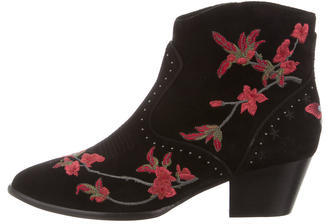Ash Ash Heidi Embroidered Ankle Boots