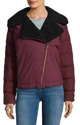 Sorel Wool-Blend Sherpa Collar Moto Jacket