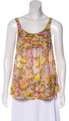 Marc Jacobs Printed Sleeveless Top
