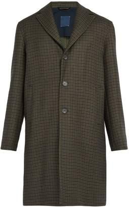 Altea Houndstooth wool-blend overcoat