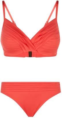 Maryan Mehlhorn Pleated Twist Bikini