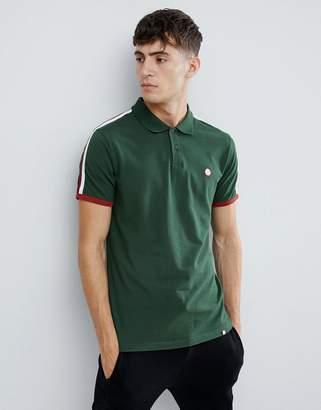 Pretty Green moon pique polo shirt in green
