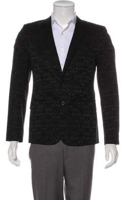 Saint Laurent Damask Two-Button Blazer black Damask Two-Button Blazer
