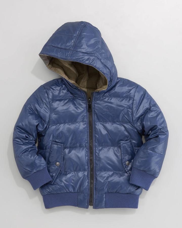 Burberry Reversible Quilted Coat, Dark Cobalt Blue