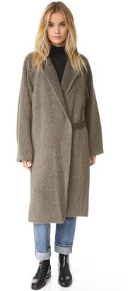 Helmut Lang Shaggy Long Coat $1,390 thestylecure.com