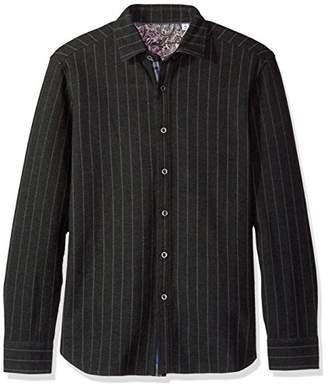 Robert Graham Men's Amboy Long Sleeve Knit Shirt Jacket