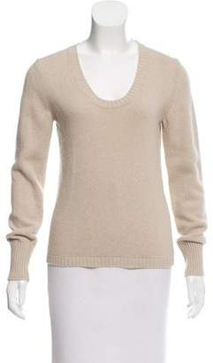 Max Mara Wool-Blend Scoop Neck Sweater