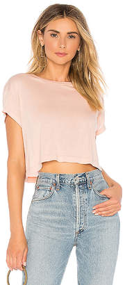 Splendid Light Jersey Crop Tee