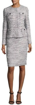 Albert Nipon Tweed Jacket w/ Pencil Skirt, Multicolor $385 thestylecure.com