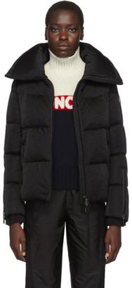 Moncler Black Bandama Shimmer Down Jacket