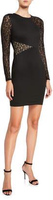 BCBGMAXAZRIA Jorden Lace Long-Sleeve Bodycon Dress
