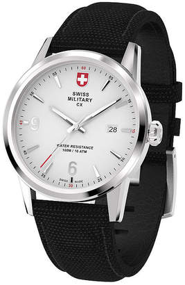 Swiss Military BY CHARMEX By Charmex Officer Mens Black Strap Watch-78346_4_B