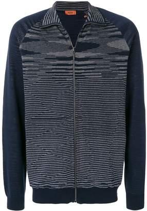 Missoni wave knit zipped sweatshirt