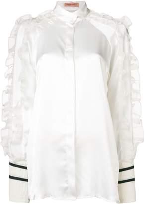 b6154082540661 White Ruffle Front Blouse - ShopStyle UK