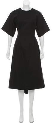 Celine Wool High-Low Dress