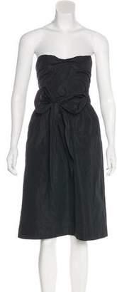 ALEXACHUNG Alexa Chung Strapless A-Line Dress