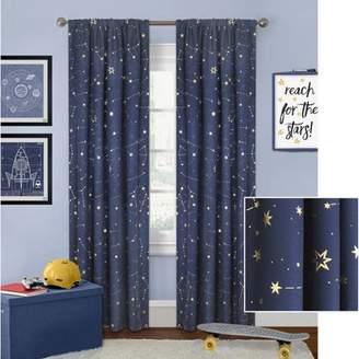 Better Homes & Gardens Better Homes and Gardens Night Sky Gold Metallic Curtain Panel