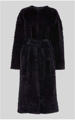 Whistles Textured Long Belted Shearling