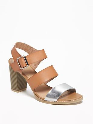 Triple-Strap Block-Heel Sandals for Women $36.94 thestylecure.com