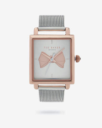 Ted Baker ISBEZA Bow square dial watch