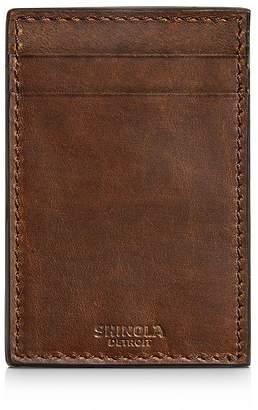 Shinola Navigator Leather Money-Clip Card Wallet