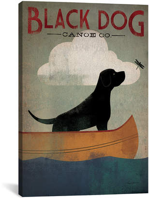iCanvas Icanvasart Black Dog Canoe Co. I Canvas Wall Art