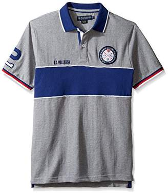 U.S. Polo Assn. Men's Short Sleeve Color Blocked Classic Fit Shirt
