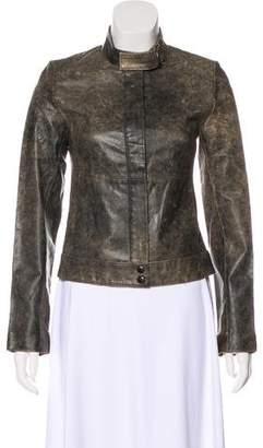 Carlisle John Leather Zip-Up Jacket